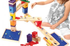 circuito canicas musical madera hape wooden toys